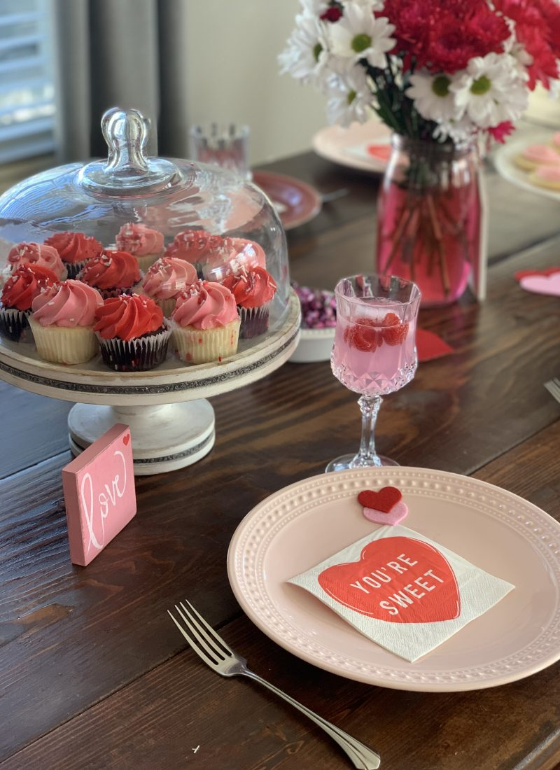 How To Create A Simple Valentine's Table